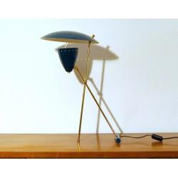 Lampada da Tavolo, Art. 1015, Ottone / Metallo - Colore BLU
