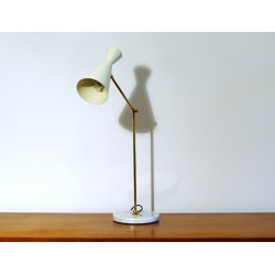 Table Lamp, Art. 1016, Brass / Metal - WHITE Color