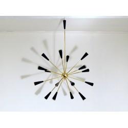 Lampada da Soffitto SPUTNIK - Art. 1732 - 16 DIFFUSORI - Ottone / Metallo - NERO