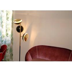 Lampada da Terra, Art. 1024, 3 DIFFUSORI - Ottone / Metallo - Colore NERO