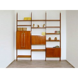 TEAK Bookcase with Folding Desk - Art. 1752 - Made in Italy 1970