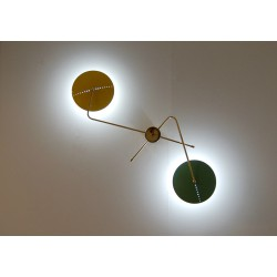 Wall Lamp Art. 1803 - 2 DIFFUSERS - Brass