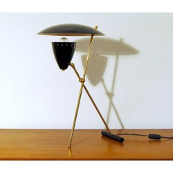 Table Lamp, Art. 1015, Brass / Metal - BLACK Color