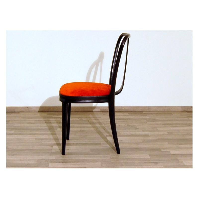 Sedie In Legno Anni 50.4 Sedie Originali Anni 50 Art 1805 Velluto Rosso Legno