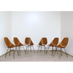 Chair in Curved TEAK, Art. 1085 - Metal Structure