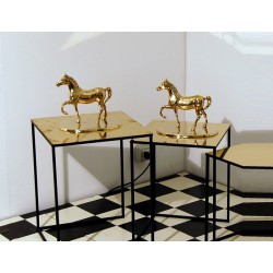 Pair of Sculptures HORSES - Solid Brass - Art. 1037 - Italy 1960
