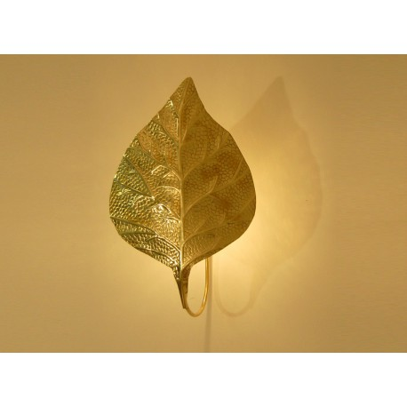 Sconce Art. 1813 - LEAF - Brass - Tommaso Barbi Style