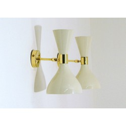 Wall Sconce Art. 1818 - Brass / Metal - WHITE Color