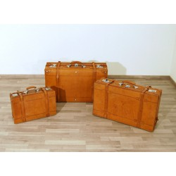 SET of 3 Leather Cases - Italy 1970 - Art. 1843