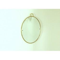 Specchio da Parete Art Déco - Cornice Ottone - Italy 1940 - Art. 1840