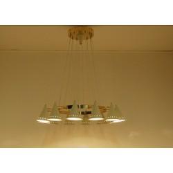 Lampada da Soffitto Art. 1901, 12 DIFFUSORI Snodati - Ottone
