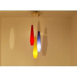 Lampada da Soffitto Art. 1910 - 3 DIFFUSORI in Vetro Colorato
