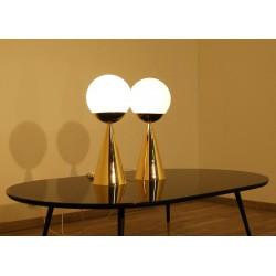BILIA Table Lamp - Art. 1913 - Brass - Opal Glass Sphere - Gio Ponti