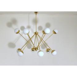 Lampada da Soffitto SPUTNIK - Art. 1755 - 12 DIFFUSORI - Ottone / Metallo