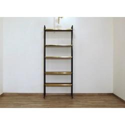 TEAK Bookcase - Art. 1429 - Brass Inserts - Italy 1950