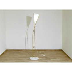 Floor Lamp Art. 1428 - DIFFUSER in Opal Glass - Marble Base