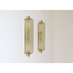 Original Wall Sconce Art. 1411 - Crystal DIFFUSER - Brass - Italy 1950
