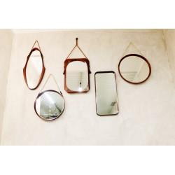 5 specchi originali legno di mogano - Art. 1962