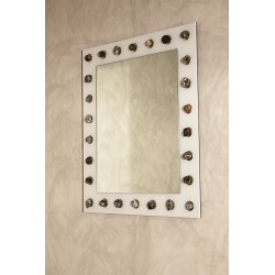 Specchio in opalino bianco - Art. 1970