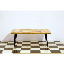Small Table Art. 1033 - Wood Structure - Made in Italy 1950