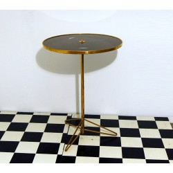 Coffe Table Art. 1039 - Black Glass Top - Structure Brass