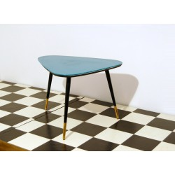 Small Table Art. 1045 - Black Glass Top - Wood Structure