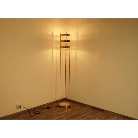Lampada da Terra, Art. 1073, 3 DIFFUSORI - Ottone / Metallo / Marmo