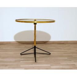 Tavolino Art. 1086 - Piano in Vetro - Struttura in Ottone