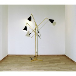 Floor Lamp, Art. 1022 TRIENNALE, 3 DIFFUSERS - Brass / Metal