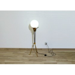Original Floor Lamp 1950, Art. 1023 - Made in Italy - Brass - Opaline Glass
