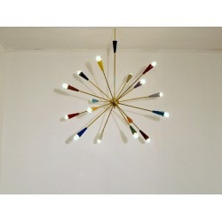 SPUTNIK Ceiling Lamp - Art. 1081 - 16 DIFFUSERS - Brass / Metal
