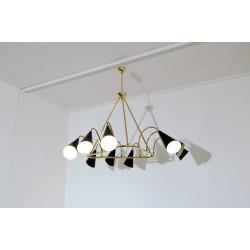 Lampada da Soffitto - Art. 1080 - 9 DIFFUSORI - Ottone / Metallo