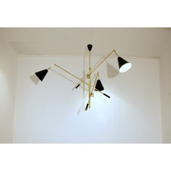 Ceiling Lamp - TRIENNALE Art. 1079 - 3 DIFFUSERS - Brass / Metal