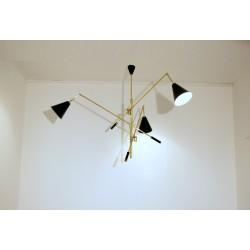 Lampada da Soffitto - TRIENNALE Art. 1079 - 3 DIFFUSORI - Ottone / Metallo