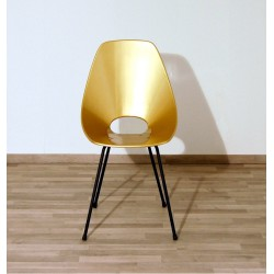 Chair in Curved Beech Wood Lacquered - Art. 1200 - Metal Structure