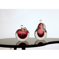 Pair of Scuture VENINI - MURANO - Italy 1960