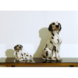 Pair of Sculptures in CERAMICS - Art. 1255 DALMATIAN - Italy 1960