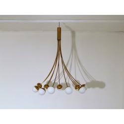 Lampada da Soffitto - Art. 1401 - 10 DIFFUSORI - Ottone / Vetro Opalino