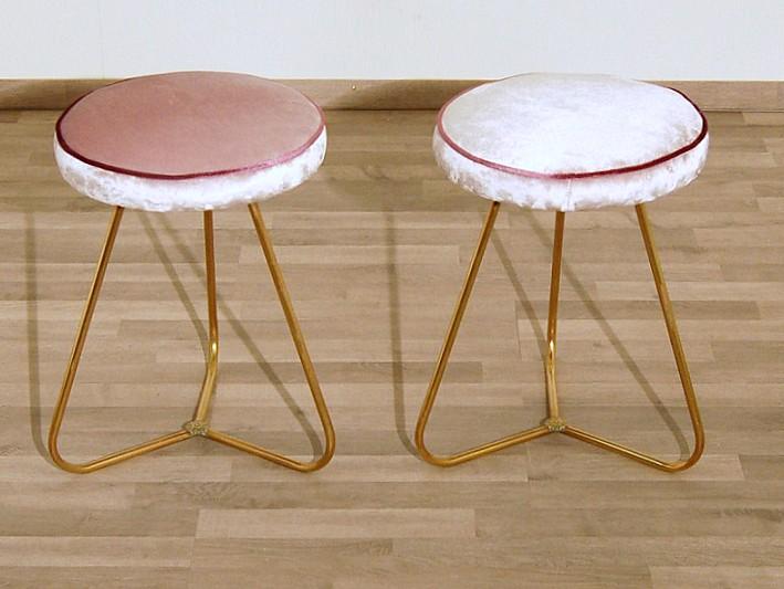 Coppia di sgabelli originali art rosa