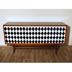 SIDEBOARD Originale in TEAK - Art. 1717 - Piano in Cristallo - Made in Italy 1950
