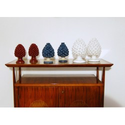 M. PARRI - 6 Sculptures in CERAMICS - Art. 1072 Pine Cones - Italy 1950