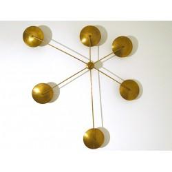 Lampada da Parete / Soffitto Art. 1133 - 6 DIFFUSORI - Ottone Opaco